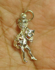 Greek Mythology Comedy tragedy dance song theatre mask 925 Sterling Silver charm