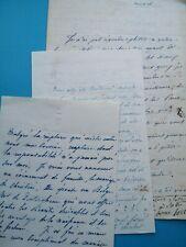 Noblesse GRANCEY Eugénie Cordoüe Mandat 2 lettres à Zoé BIENVILLE DENTERGHEM