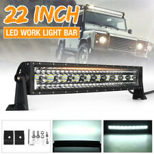 "22"" Inch 130 LED Work Light Bar Curved Spot Flood Combo Offroad Car Truck SUV L"