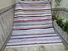 Handmade Moroccan Vintage Boucherouite Rug Azilal carpet Beni Ourain Rug