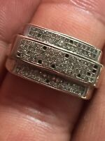 Mens Yellow Gold Diamond Ring 10 Kt Scrap Or Wear Size 9 With Stones