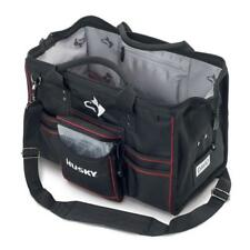 Husky 18 In. Large Canvas Electricians Heavy Duty Tool Bag Storage Organizer