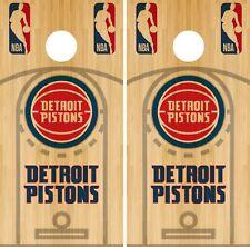 Detroit Pistons Cornhole Wrap NBA Court Game Board Skin Set Vinyl Decal CO602