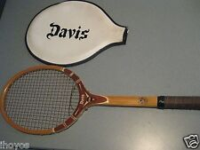 Wooden Davis High point Made in Usa 4L Tennis Racket with Davis Case Tad
