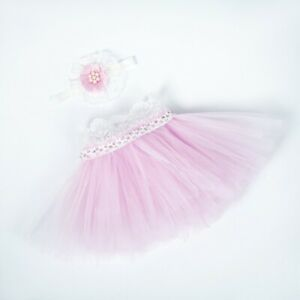 Newborn Baby Girl Tutu Skirt Dress Headband Photography Props Studio Photo Shoot