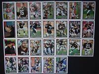 1991 Topps Los Angeles Raiders Team Set of 26 Football Cards