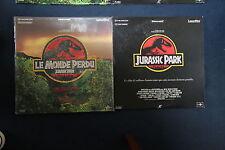 LOT 2 LASERDISC PAL Jurassic Park Le Monde Perdu