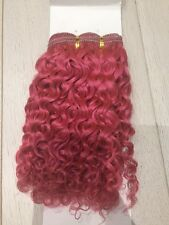 "10"" Human Hair Extensions Pink Jerry Curl Extensions 100g"