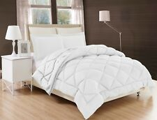 Down Alternative Comforter Bed Cover Set With Pillow Shams quilted SOLID PLAIN