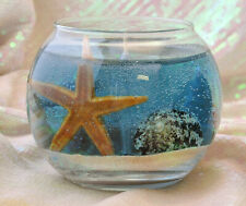 Scented Seascape Gel Candle 14 oz w/ real sand & sea shells YOU CHOOSE THE SCENT