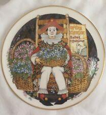 Vintage Royal Doulton Plate Behind Painted Masque Clown Ltd Ed 1982 Ben Black