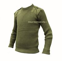 COMMANDO GREEN PULLOVER/JUMPER - USED - 94cm- ARMY ISSUE