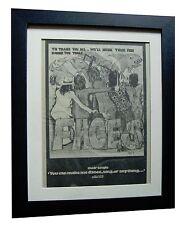 FACES+Make Dance Sing Anything+ORIGINAL 1974 POSTER AD+FRAMED+FAST GLOBAL SHIP