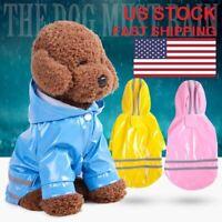 Outdoor Pet Dog Cat Rain Coat Clothes Puppy Hooded Raincoat Apparel Waterproof