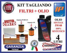 KIT TAGLIANDO FILTRI  + OLIO IP 5W40 LANCIA Y YPSILON 1.3 MULTIJET 2003-2011