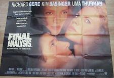Richard Gere Kim Basinger FINAL ANALYSIS(1992)Original movie poster UK POST FREE