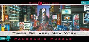 TIMES SQUARE NEW YORK PANORAMIC 750pc. Jigsaw Puzzle. 3-Feet Wide. *SEALED NEW!*