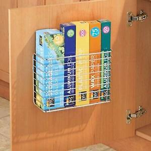 Hanging storage basket Over Cabinet Door Rack Kitchen Cupboard Metal Organiser