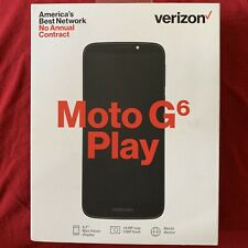 "VERIZON MOTO G6 PLAY 5.7"" 16GB 4G LTE Prepaid Smartphone BRAND NEW"