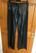 Ladies Leather Trousers by Zucchero Italy Black Size 38 NWOT