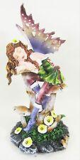 Fairy Napping on a Mushroom w/ Earth tone Wings Fantasy Decor