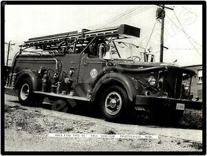 Mack Trucks New Metal Sign: Type 95, 1953 Fire Truck - Fayetteville, Tennessee