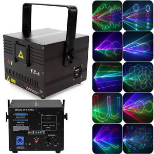 RGB Laser Bühnenbeleuchtung 1000mW DMX Full Color Animation Disco DJ Bühnenlicht