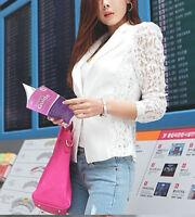 WOW White jacket with Lace Sleeves Size 8 12 14 Ladies White Wedding Jackets