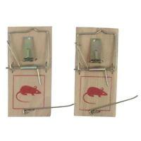 2 x Tapette à souris / Anti rongeur / Piège à rat en bois