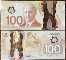 CANADA 100 DOLLAR 2011 / 2016 POLYMER P 110 NEW SIGN WILKINS & POLOZ POLYMER UNC