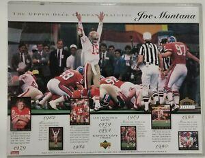 "1995 Upper Deck Company Salutes Joe Montana 8.5"" x 11"" Card 2411/30,000"