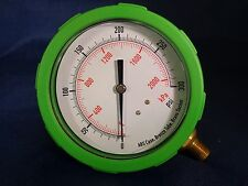 "Pressure Gauge 4"" Dia. 0 to 300PSI 0 to 2000 kPa 1/4NPT Grainger NIB 4EFH6"