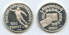GS693 - Ungarn 500 Forint 1981 BP KM#624 Fussball WM 1982 Silber Hungary Magyar