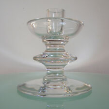 VAL ST LAMBERT BOUGEOIR signé CRISTAL BELGIAN ART GLASS CRYSTAL CANDLESTICK VSL
