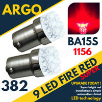 2X T20 1156 BA15S 382 P21W 9 LED CAR TAIL BRAKE SIGNAL LIGHT LAMP BULB