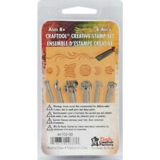Tandy Leather Factory CRAFTOOL CREATIVE STAMP SET 7  Pieces