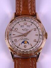 BUTEX BWC Buttes Watch Co.Triple Date Calendar Moonphase Vollkalender Mondphase