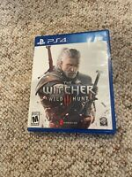 The Witcher III 3: Wild Hunt (PlayStation 4, 2015) PS4 - Map & CD Included