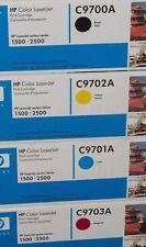 Original HP tóner frase todos los colores 4 c9703a c9702a c9701a c9700a