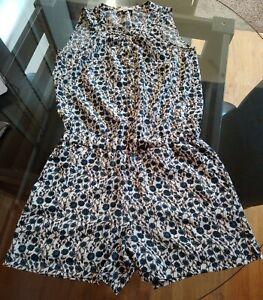 Ann Taylor Loft Floral Print Romper dress Sz 00p