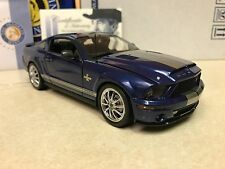 1/24 Franklin Mint Blue 2008 Shelby Mustang GT 500KR Signed Autographed Shelby