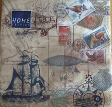 Pack of 4 Napkins - Travel - Great for Decoupage / Napkin Art- 16 609 42