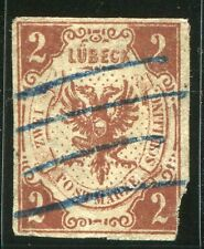 German States, Lubeck 1859, 2s Brown, Scott# 3 (Used)