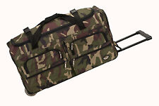 """Pack of 2, 30"""" Rolling Duffel Bags Wheeled Duffle Travel Luggage Suitcase - Camo"""