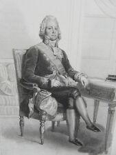 GRAVURE GALERIE HISTORIQUE VERSAILLES 1840 / CHARLES MAURICE PR. DE TALLEYRAND