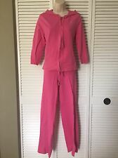 Aeropostale Hot Pink Sweatshirt Size XL Pant Size M Set