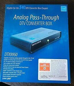 Digital Stream (DTX9950) Analog Pass-Through DTV TV Converter Box with Remote