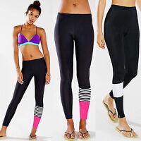 Damen Strech Lang Relaxhose Laufhose Trainingshose Sport Hose Leggings Sportwear