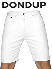 Bermuda Uomo DONDUP Bianco shorts jeans Denim pantaloni slim