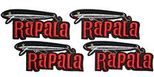 4 small RAPALA Original Floater Embroidered iron on Patch for bags and vast